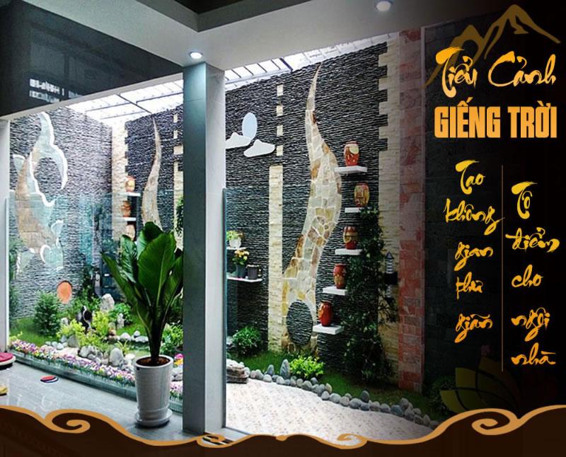 Thiết kế thi công tiểu cảnh giếng trời tại TP Vinh Nghệ An